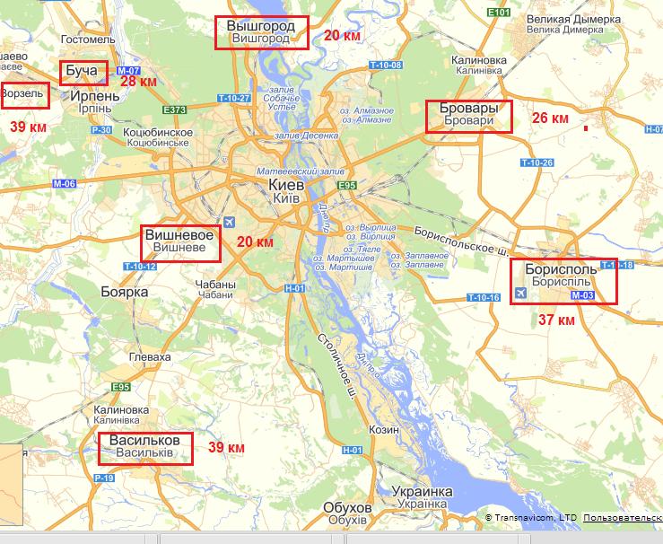ЖК за городом на карте