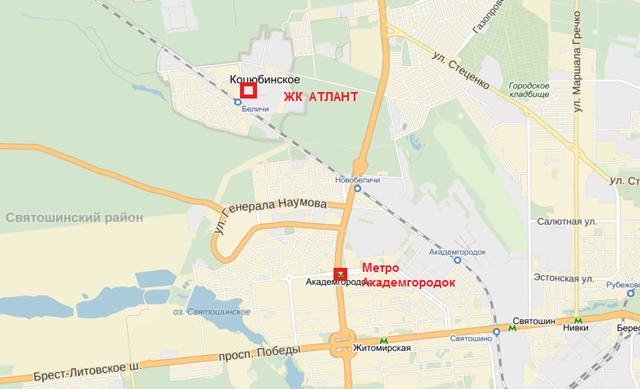 ЖК Атлант в Коцюбинском Блог о Новостройках Киева форум и отзывы ЖК Атлант на карте 2