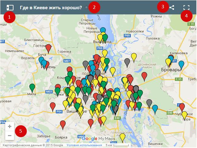 Новостройки на карте Киева и области 1