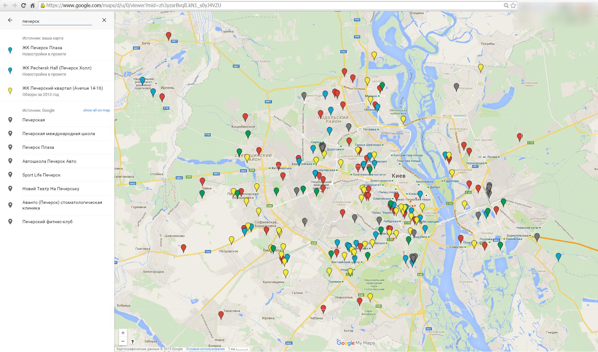 Новостройки на карте Киева и области 5