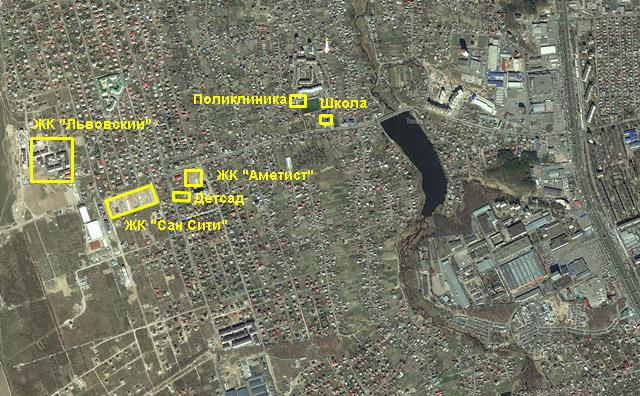 ЖК Сан Сити на карте 1