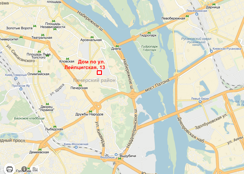 Лейпцигская 13 на карте
