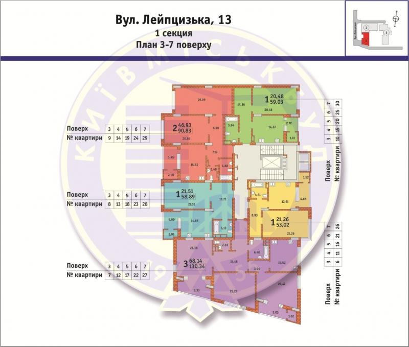 Лейпцигская 13 поэтажный план 1
