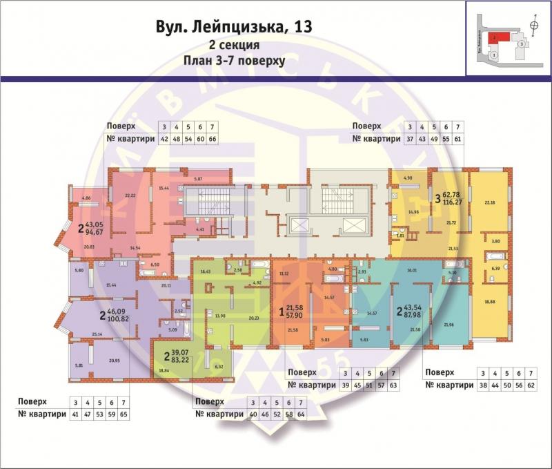 Лейпцигская 13 поэтажный план 2