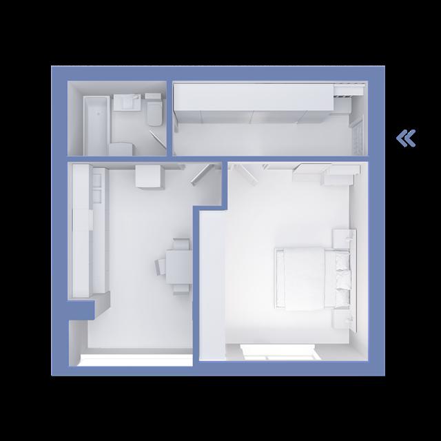 Пушкинский квартал 1 комнатная квартира