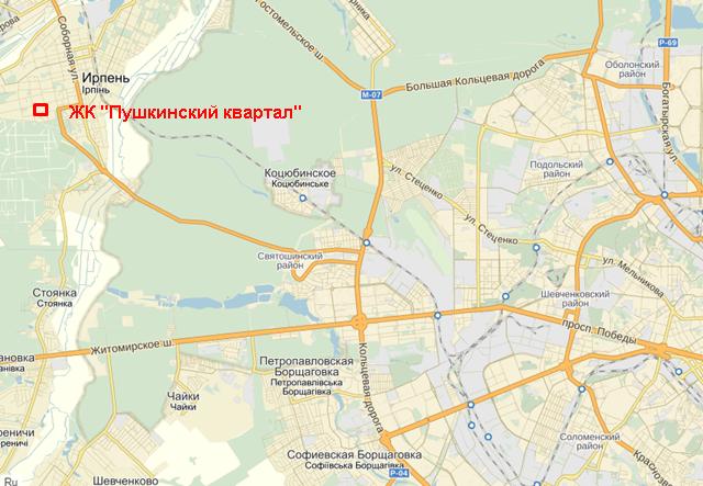 Пушкинский квартал на карте