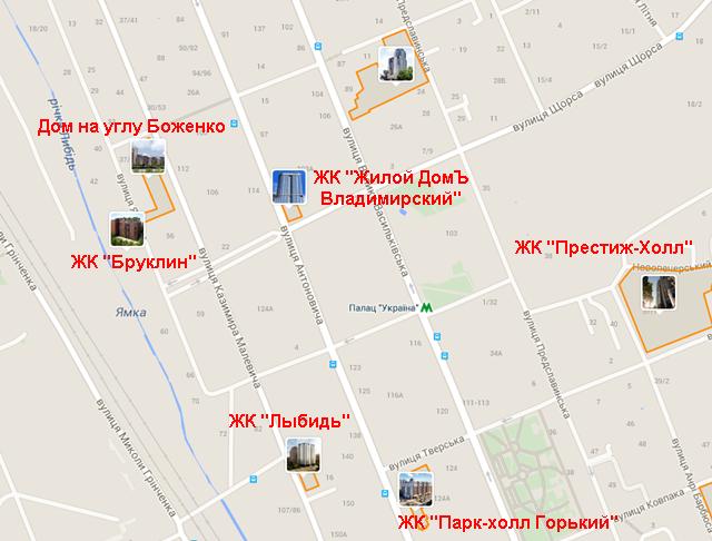 ЖК Владимирский на карте
