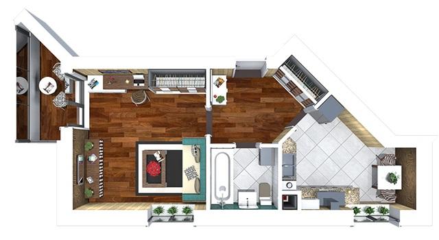 ЖК Сакура 1 комнатная квартира