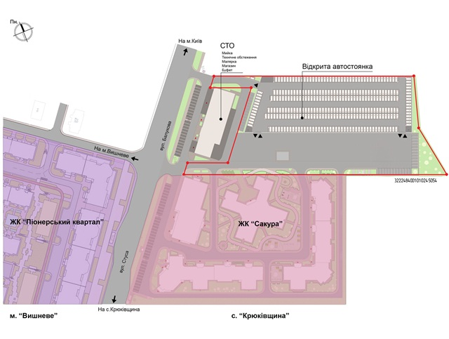 ЖК Сакура схема парковки