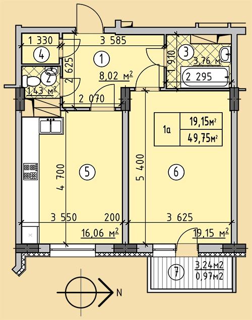 ЖК Западный 1 комнатная квартира