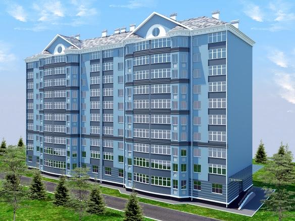 Дом на строителей визуализация