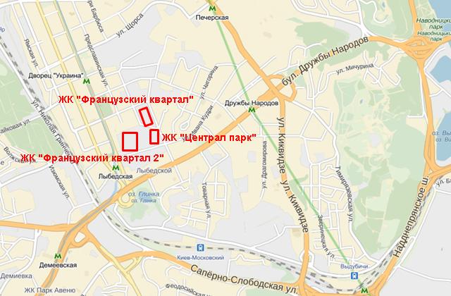 ЖК «Французский квартал 2» на карте