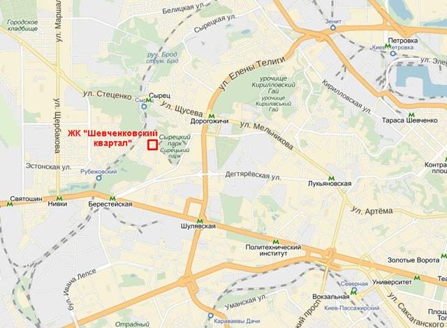 "ЖК ""Шевченковский квартал"" на карте 1"