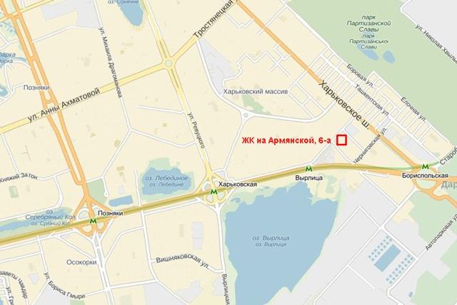 ЖК на Армянской, 6-а карта 2
