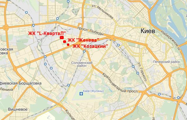 ЖК «L-Квартал» на карте
