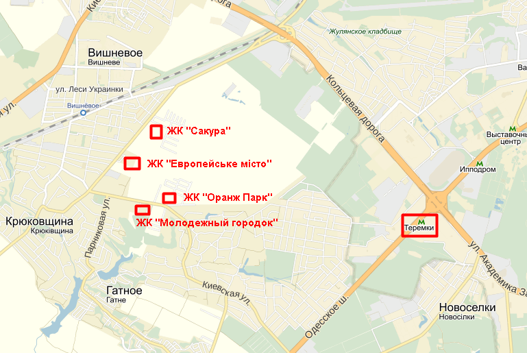 ЖК «Оранж Парк» на карте
