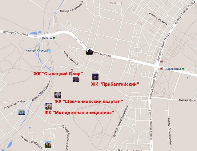 ЖК «Прибалтийский» на карте