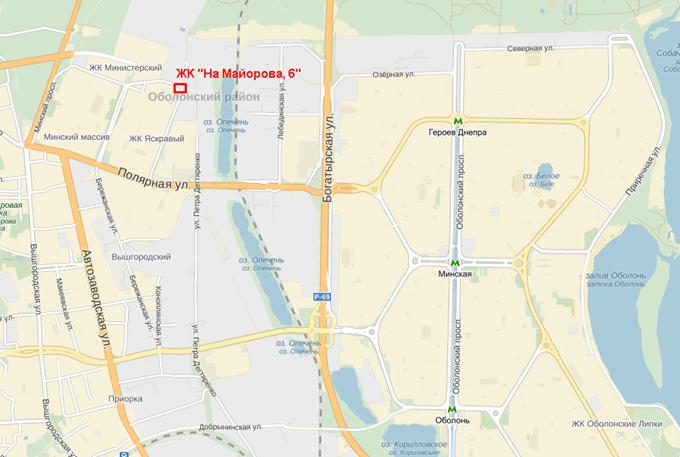 Дом по ул. Майорова, 6 на карте