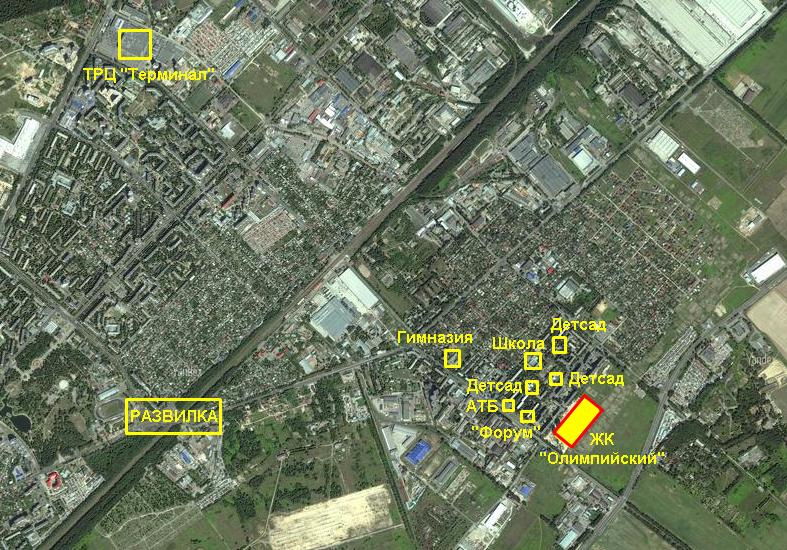 ЖК «Олимпийский» в Броварах инфраструктура