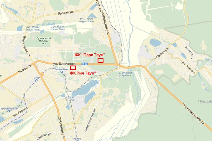 ЖК PARKTOWN на карте
