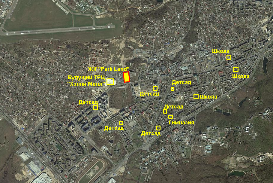 ЖК «ParkLand» инфраструктура