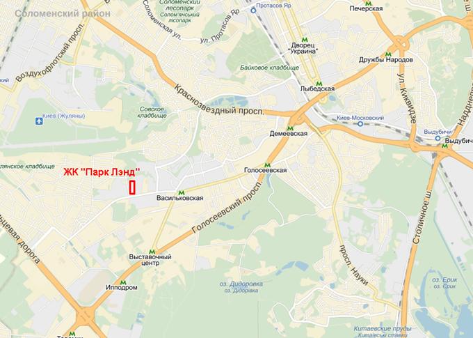 ЖК «ParkLand» на карте