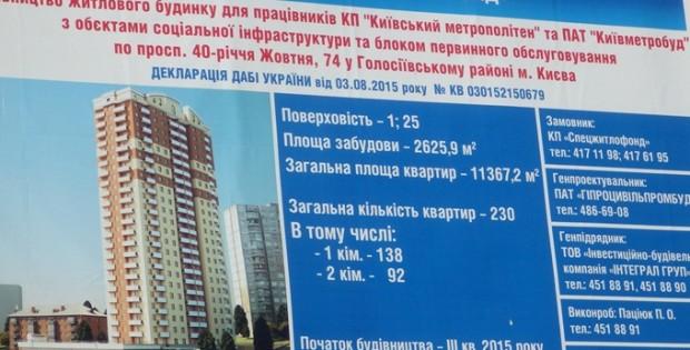 ЖК по пр. 40-летия Октября, 74 паспорт