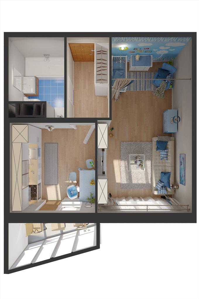 ЖК «Берген» 1 комнатная