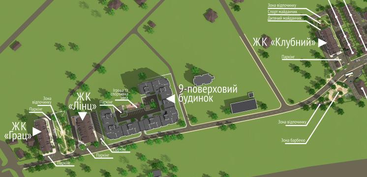 ЖК «Новая Конча-Заспа» генплан