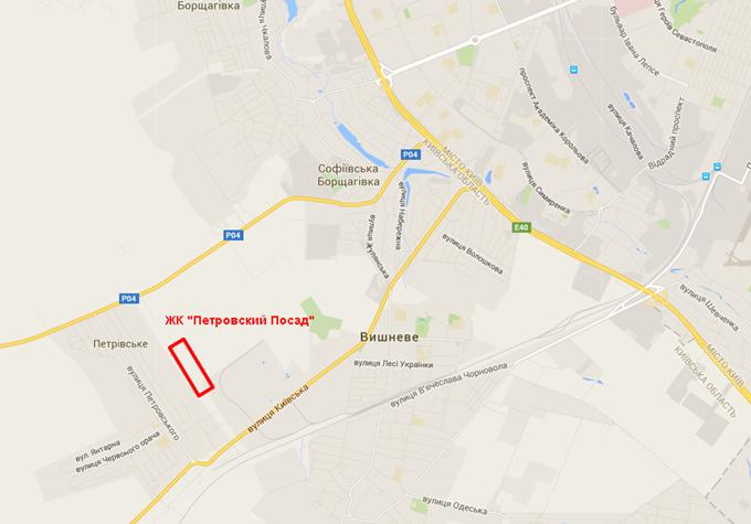 ЖК «Петровский Посад» на карте 1
