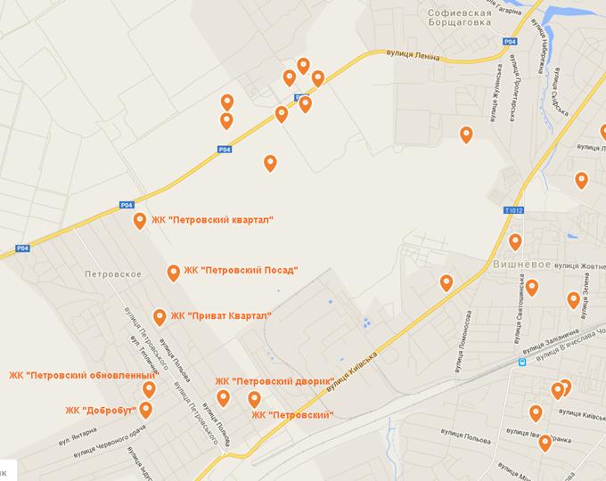 ЖК «Петровский Посад» на карте 3