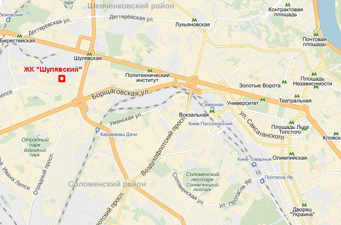 ЖК «Шулявский» на карте