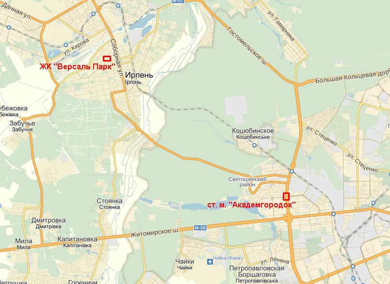 ЖК «Версаль Парк» на карте