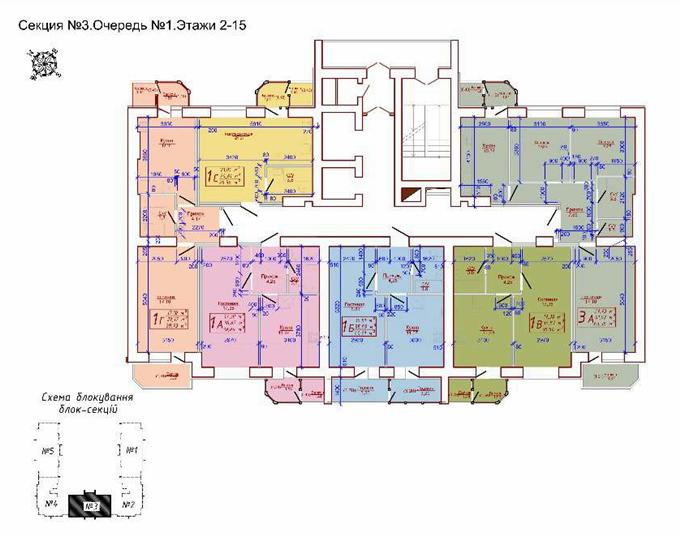 ЖК «Версаль Парк» поэтажный план 3 секция