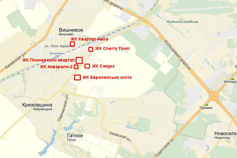 ЖК Cherry Town на карте 2