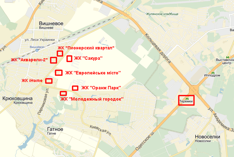 ЖК «Европейське мисто» на карте