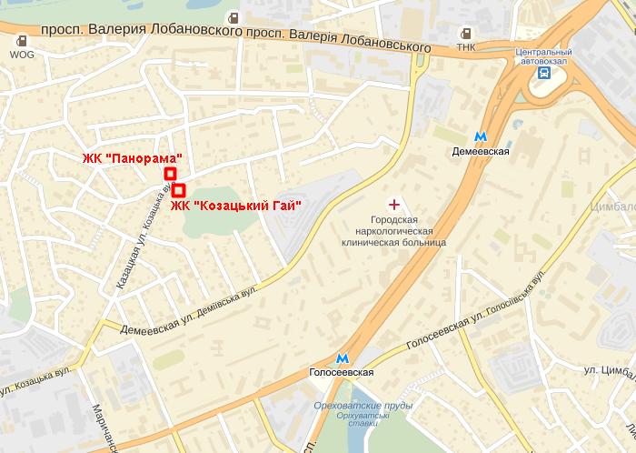 ЖК «Козацкий Гай» карта