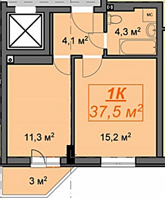 ЖК «Люксембургский» 1 комнатная