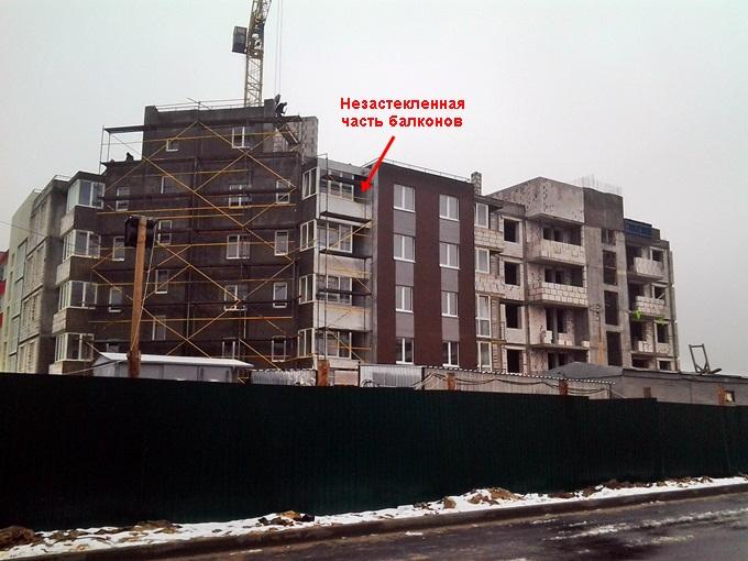 ЖК «Новая Буча» балкон 2