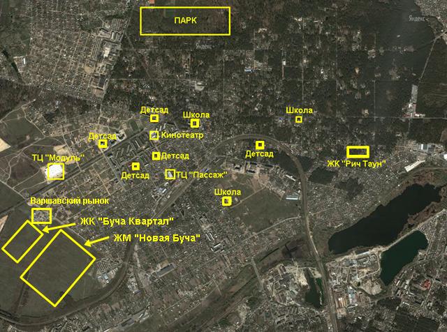 ЖК «Новая Буча» инфраструктура