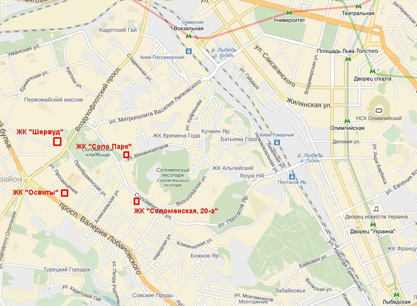 ЖК «Освиты» от КГС 3 карта