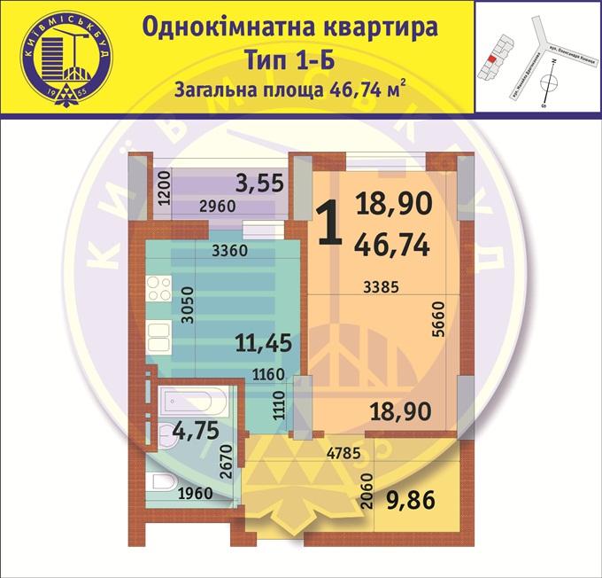 ЖК по ул. Драгоманова, 35 1 к квартира