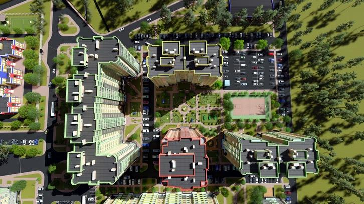 Микрорайон «Фреш Сити» в Ирпене первая очередь строительства