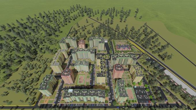 Микрорайон «Фреш Сити» в Ирпене генеральный план