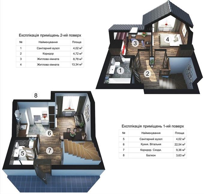 ЖК «Десна Резиденс» 2 уровневые квартиры