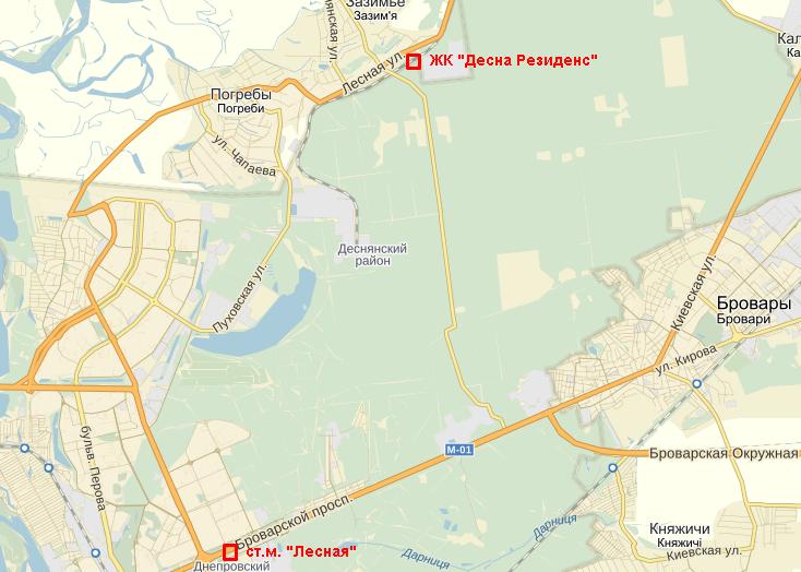 ЖК «Десна Резиденс» карта