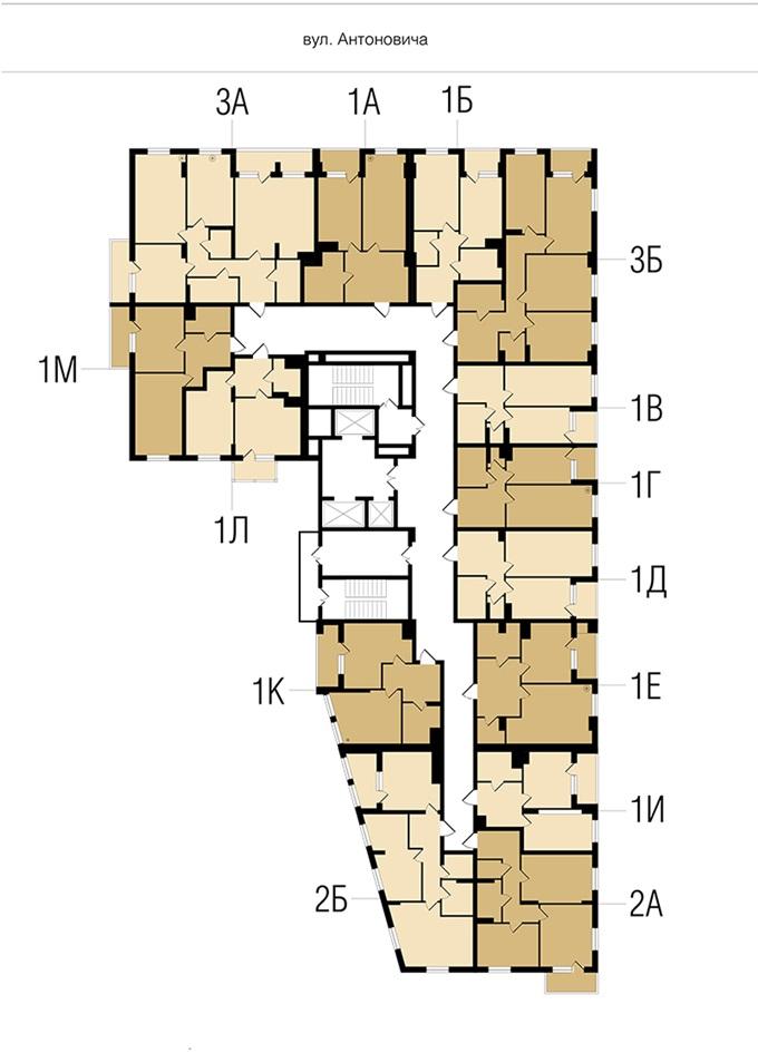 ЖК New York Concept House поэтажный план