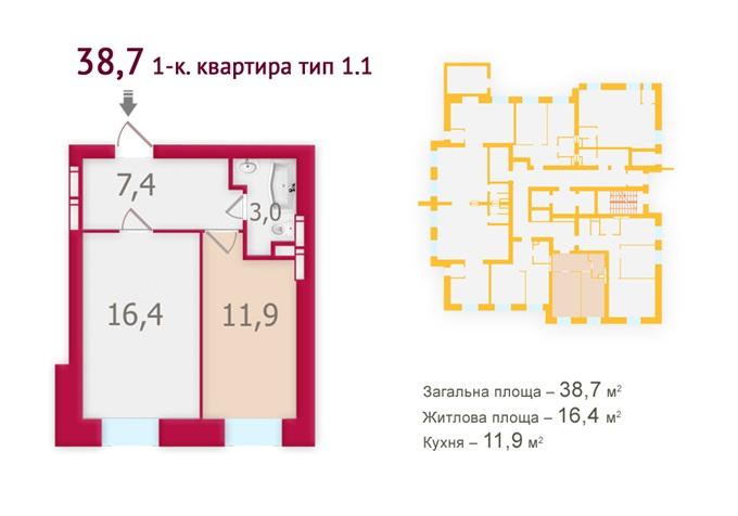 ЖК «Оберег» от Укрбуда планировка квартир
