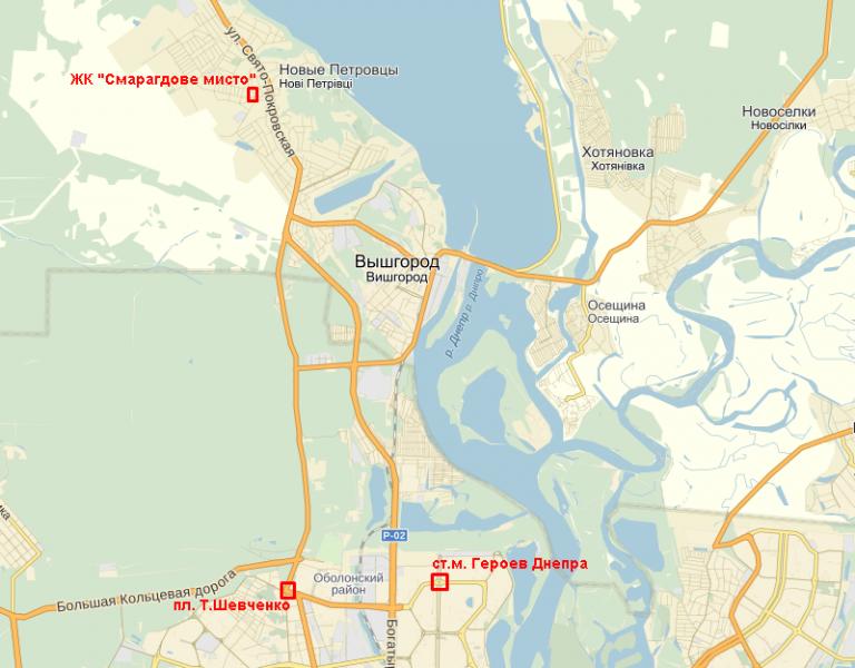 ЖК «Смарагдове мисто» карта