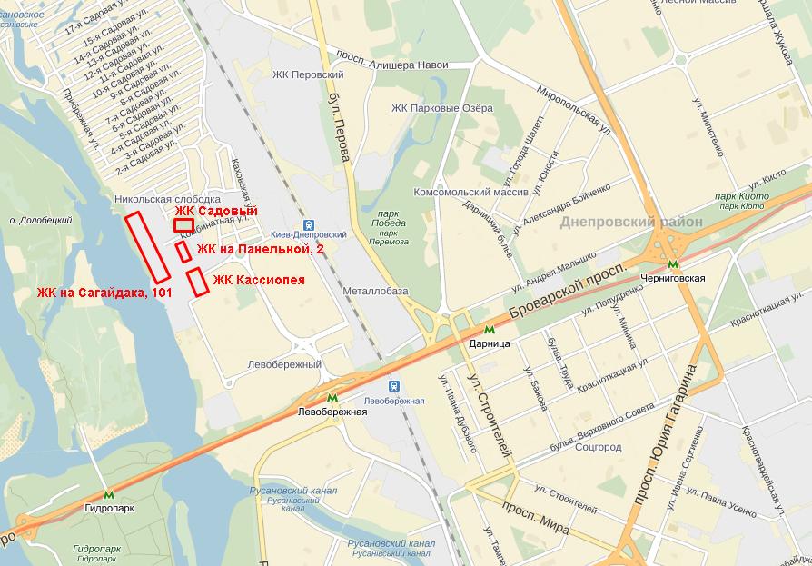 ЖК на Панельной от КГС карта